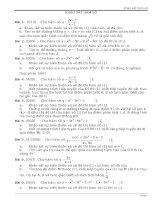 khảo sát hàm số trong đề thi ĐH