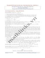 khóa giải đề THPT quốc gia môn toán  thầy đặng thành nam
