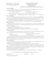 Đề và đáp án HSG hóa 9 tỉnh Thái Nguyên  2011.