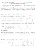 Kỹ thuật tính khoảng cách trong hình học không gian
