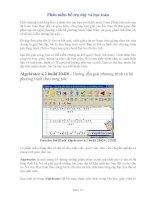 Phần mềm hỗ trợ dạy học toán Đại số