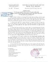 Thông báo nghỉ lễ 30/4 & 01/5/2011 của UBND tỉnh Tiền Giang (TB34/TB-UBND ngày 15/4/2011)