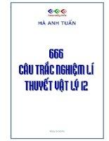 666 câu hỏi lý thuyết vật lý 12
