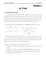 Kỹ Thuật Xung Số  Chương 4(hệ tổ hợp)