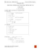 Vở làm bài tập toán lớp 12 chuyên đề mũ  logarit