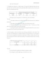 Bài tập quy hoạch tuyến tính