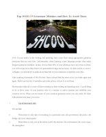 10 lỗi sai thường gặp trong thi IELTS và cách khắc phục