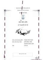 BTL LÝ THUYẾT Ô TÔ - Tính toán và kiểm tra chất lượng kéo của ô tô
