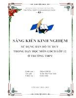 SÁNG KIẾN KINH NGHIỆM SỬ DỤNG BẢN ĐỒ TƯ DUY TRONG DẠY HỌC MÔN GDCD LỚP 12 Ở TRƯỜNG THPT