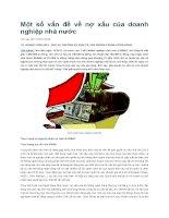 tạp chí kinh tế đối ngoại đề tài  Một số vấn đề về nợ xấu của doanh nghiệp nhà nước