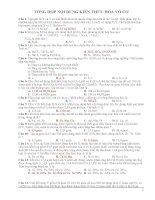 tài liệu tổng hợp vô cơ ôn thi đại học