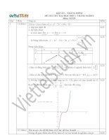 Đáp án đề thi thử đại học môn toán đợt 1 tháng 5 năm 2014