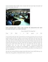 tạp chí kinh tế đối ngoại đề tài  KINH NGHIỆM PHÁT TRIỂN CÔNG NGHIỆP HỖ TRỢ DỆT MAY CỦA MỘT SỐ QUỐC GIA TRÊN THẾ GIỚI