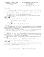 Tuyển đề và đáp án HSG hóa 9