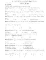 đề cương ôn tập giữa học kỳ 2 toán lớp 9