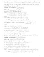 Tuyển tập chuyên đề và kỹ thuật tích phân, nguyên hàm