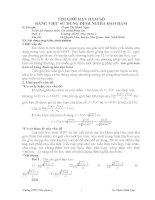 PP MỚI GIẢI MỘT LỚP BÀI TẬP KHÓ VÊ GIỚI HẠN hàm số TRONG CT THPT