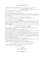 Đề thi thử đại học lần 1 toán khối  D trường THPTChuyên Lê Quý Đôn  năm 2014 có đáp án