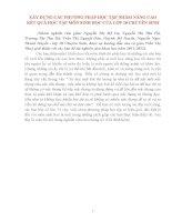 XÂY DỰNG CÁC PHƯƠNG PHÁP HỌC TẬP NHẰM NÂNG CAOKẾT QUẢ HỌC TẬP MÔN SINH HỌC CỦA LỚP 10 CHUYÊN SINH