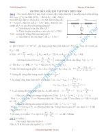 Hướng dẫn giải bài tập bồi dưỡng HSG lớp 9 phần điện học