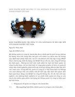tạp chí kinh tế đối ngoại đề tài KINH NGHIỆM QUẢN TRỊ CÔNG TY CỦA AUSTRALIA VÀ BÀI HỌC ĐỐI VỚI DOANH NGHIỆP VIỆT NAM