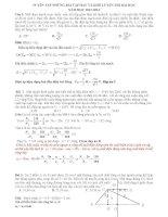 Tuyển chọn bài tập hay và khó phục vụ ôn thi đại học môn vật lý