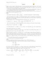 tuyển chọn các bài toán vật lý nâng cao phần nhiệt