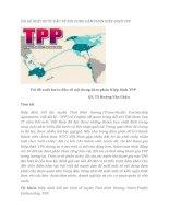 tạp chí kinh tế đối ngoại đề tài  VÀI ĐỀ XUẤT BƯỚC ĐẦU VỀ NỘI DUNG ĐÀM PHÁN HIỆP ĐỊNH TPP