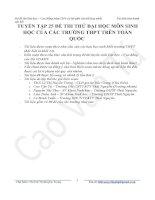 Tuyển tập 25 đề thi thử đại học hay môn sinh có lời giải chi tiết