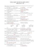 tài liệu tổng hợp hữu cơ ôn thi đại học