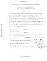 Phương pháp giải toán mặt cầu ngoại tiếp hình chóp của Nguyễn Thanh Hậu hay