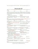 200 bài tập nhận biết hóa học