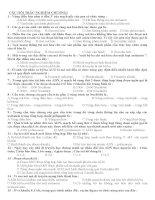 bộ câu hỏi lý thuyết và bài tập ôn thi đại học môn sinh