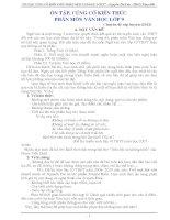 Chuyên đề ÔN TẬP NGỮ VĂN LỚP 9