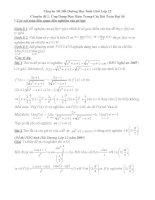 chuyên đề bồi dưỡng học sinh giỏi môn toán lớp 12