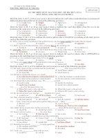 Đề thi thử THPT quốc gia 2015 môn tiếng anh trường THPT lý tự trọng, bình định (lần 2)