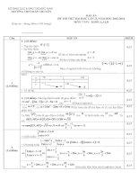Đáp án đề thi thử đại học môn toán lần 2 khối A ,A1,B, năm 2013,2014 trường THPT Hàn Thuyên