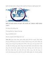 tạp chí kinh tế đối ngoại đề tài MỘT SỐ NỘI DUNG VỀ QUY TẮC XUẤT XỨ TRONG HIỆP ĐỊNH TPP