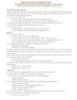 Hệ thống bài tập Tổ hợp Xác suất lớp 11