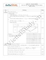 Đáp án đề thi thử đại học môn toán đợt 2 tháng 6 năm 2014