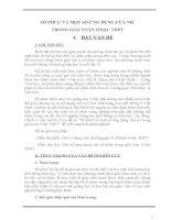 SỐ PHỨC VÀ MỘT SỐ ỨNG DỤNG CỦA NÓ TRONG GIẢI TOÁN Ở BẬC THPT