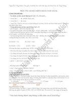 Bài tập oxi hóa ancol full đề bộ + đề thi thử