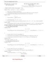 25 Đề thi THPT Quốc Gia và hướng dẫn giải chi tiết môn toán