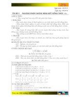 phương pháp chứng minh bất đẳng thức thcs