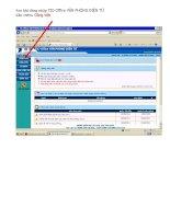 Hướng dẫn gửi dữ liệu trên Tic-office