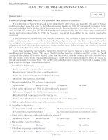 Bộ đề thi thử THPT Quốc gia 2015 môn Tiếng Anh trường THPT Đa Phúc, Hà Nội (lần 2)