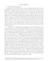 tóm tắt luận án VAI TRÒ CỦA VĂN HÓA TRONG QUÁ TRÌNH PHÁT TRIỂN KINH TẾ - XÃ HỘI