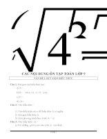Các dạng bài tập Toán 9 ôn thi vào lớp 10
