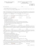 Đề thi thử THPT Quốc gia năm 2015 môn Hóa học trường THPT Cẩm Thủy 1, Thanh Hóa