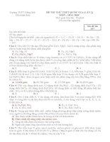 Đề thi thử Quốc gia lần 2 năm 2015 môn Hóa học trường THPT Hồng Lĩnh, Hà Tĩnh